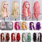 Women Long Hair Wig Curly Wavy Synthetic Anime Cosplay Party Sexy Full Wigs 70cm