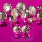 FUNKY DISCO DIVA MIRROR BALL EARRINGS 70s 80s 90s RETRO PARTY NIGHT FUN KITSCH