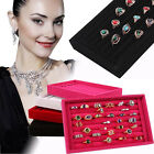 Ring Storage Display Box Jewelry Organizer Boxes Ring Display Jewelry Pad Case