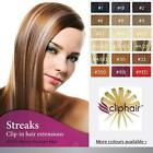 Clip in Remy Human Hair Extensins , Streaks / Highlight