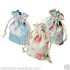 Vintage Floral Shabby Chic Wedding Favour Pouch Bag Gift Jewellery Craft