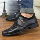 Black Blue Suede+Faux Leather Slip On Formal Business Ankle Boots Men's Shoes
