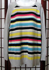 Chaps Women's Ultra Soft Comfortable Pull-0n Striped Sweater Plus New with tags