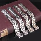 Men Women Silver Gold Stainless Steel Watch Strap 18/20mm Metal Bracelet Band