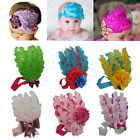 New Toddler Feather Diamond Infant Baby Lace Flower Headband Hair Band Headwear