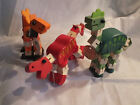 Wooden Articulated Dinosaurs T Rex Stegosaurus Brontosaurus By House of Marbles