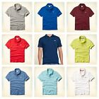 GENUINE HOLLISTER BY ABECROMBIE MENS PLACKET POLO T SHIRT. S,M,L,XL. UK SELLER