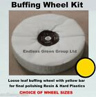 Resins & Plastics Polishing Kit - Loose Leaf Buffing Wheel, pigtail & Yellow bar