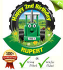 """8"""" TRACTOR TED Edible Personalised Cake Topper A4 Icing Sheet Rice movie"""