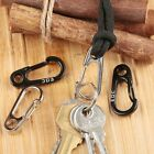 5pcs EDC Mini Paracord Carabiner Snap Spring Clips Hook Keychain Survival Tool