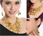 NEW BELLY DANCE JEWELRY NECKLACE  EARNNING TRIBAL COINS BEADS DANCEWEAR