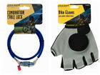 Bicycle Combination Lock / Padded Gloves / Waterproof Cover Cycle Bike Cable