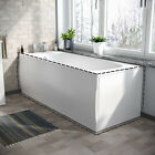 BATHROOM HIGH GLOSS WHITE ACRYLIC FRONT OR END BATH PANEL