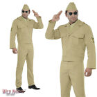 """FANCY DRESS COSTUME # MENS 1940s WW2 AMERICAN FORCES MILITARY GI SIZE 38""""-44"""""""