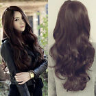 New Womens Long Curly Wigs Cosplay Party Costume Wavy Hair Full Wig Classic