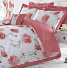 Arley Pink Red Duvet Set. Superking & Single & Bed Throw .NEXT DAY DELIVERY