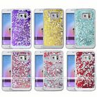 Bling Heart Dynamic Liquid Quicksand 3D Case Cover For Samsung Galaxy S6 Edge