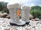 SPORTO TALL MID-CALF SUEDE WATERPROOF LACE UP FAUX FUR  BOOTS OFF WHITE millie