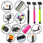 Extendable Built-in Bluetooth Shutter Remote Selfie Stick Monopod for iPhone HTC