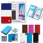 Cowskin Slim Flip Leather Wallet Case Cover w/Silicone For iPhone Galaxy LG
