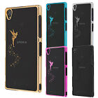 Sony Xperia Z3 Z3 Compact Durable Hard Skin Case Cover chrome effect fairy gold