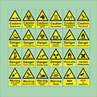 Photoluminescent Glow In The Dark Hazard CCTV Self-Adhesive Backed Stickers