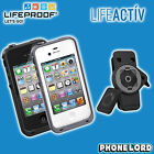 Genuine Lifeproof waterproof tough case for iPhone 4 4S + Lifeactiv Belt Clip