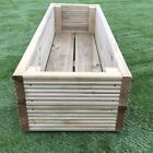 Large Decking Wooden Garden Planter 0.6M 1.2M or 1.8M Wood Trough Handmade Box