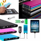 20000mAh USB External Battery Power Bank Pack Charger Phone For iPhone 6 Samsung