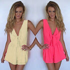 Women Sleeveless Playsuit Clubwear Bodycon Party Summer Jumpsuit Romper Trousers