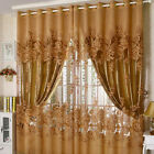 Peony Floral Window Curtain Voile Drapes Panel Door Divider Sheer Scarf Valances