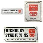 ARSENAL RETRO METAL SIGNS ( Door Sign, Street Sign)Official Club Merchandise