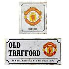 MANCHESTER UNITED RETRO METAL SIGNS ( Street ,Door)Official Club Merchandise