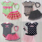 Newborn Infant Girl Polka Dot Headband+Romper+TUTU Outfit Gifts For Your Babies
