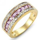 Size 6,7,8,9,10 Amethyst 18K Gold Filled Mans Womans Fashion Engagement Rings
