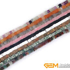 "4mm Smooth Square Beads Jewelry Making Gemstone Beads Strand 15"" 3 Materials"