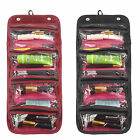 Roll-up Cosmetic Makeup Case Organizer Pouch Toiletry Zip Jewellery Wash Bag