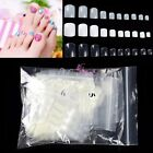 500 Pcs French Acrylic Artificial Full False Fake Toe Nail Art Tip Makeup Decor
