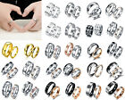 Stainless Steel Ring Titanium Silver Black Gold Men Women SZ 7 to 13 Wedding