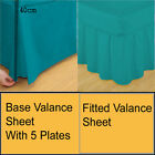 Luxury Plain Dyed Poly Cotton Platform Valance Box Pleated,Fitted valance sheet