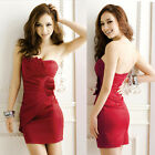 Padded Strapless Backless Women's Night Out Club Cocktail Party Mini Tube Dress