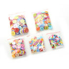 100pcs DIY Round Plastic Buttons 4 Holes Sewing Clothes Button for Crafts ASE
