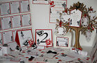 ALICE IN WONDERLAND wedding:INVITATIONS & INSERTS;8 designs /60 colours/any qty