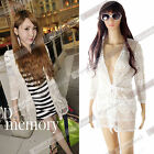New Summer Lace Sleeve Cardigan Sun Protection Clothes Air-conditioned Shirt