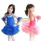 Kids Girls Princess Party Halter Tutu Dancewear Skirt Ballet Dance Dress Costume