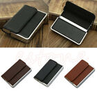 New Fashion Men Luxury Pocket Leather Business ID Credit Card Holder Case Wallet
