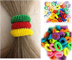 New Fancy Colour Hair Bands Mini Baby Ponytail Elastic Stretchy Bobbles 60+ Pack