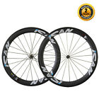 ICAN Carbon Road Bike Wheelset 56mm Clincher Tubless Ready Straight Pull Hub
