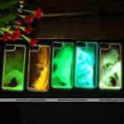 Glow in the Dark Noctilucent Dynamic Liquid Quicsand Cover Case For iPhone 5 5S