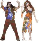 Couples Mens & Ladies Zombie Hippy Hippie 60s 1960s Halloween Costumes Outfits